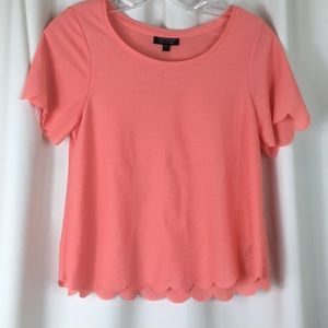 Topshop, scalloped hem, cropped top, S, NWOT.